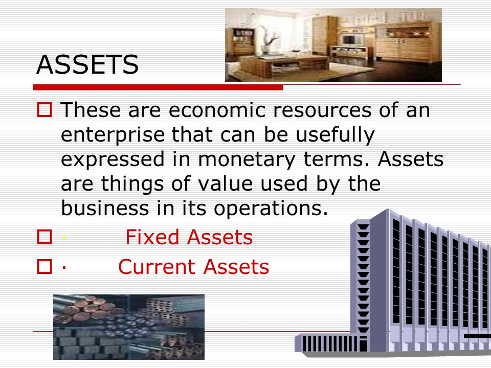 Important accounting terms  Assets  Liabilities  Capital  Revenue  Expenses  Purchases  Sales  Stock  Debtors  Creditors  Drawings