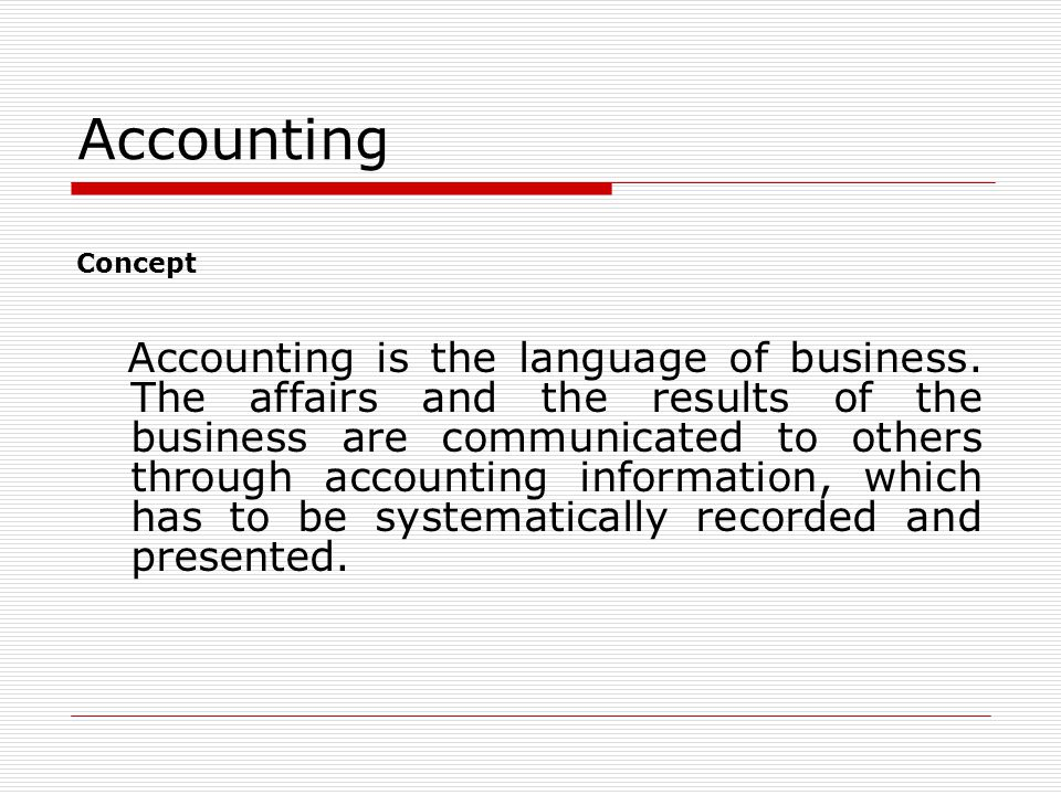 Need of accounting  The need of accounting for a person to run a business  To know fundamental assumptions of accounting which help to run the busin