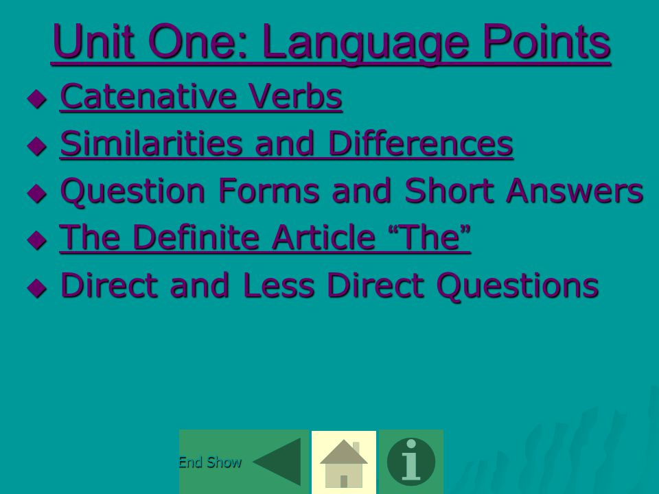 Unit One: The Definite Article The It is used in the following situations   Before nouns mentioned previously e.g.