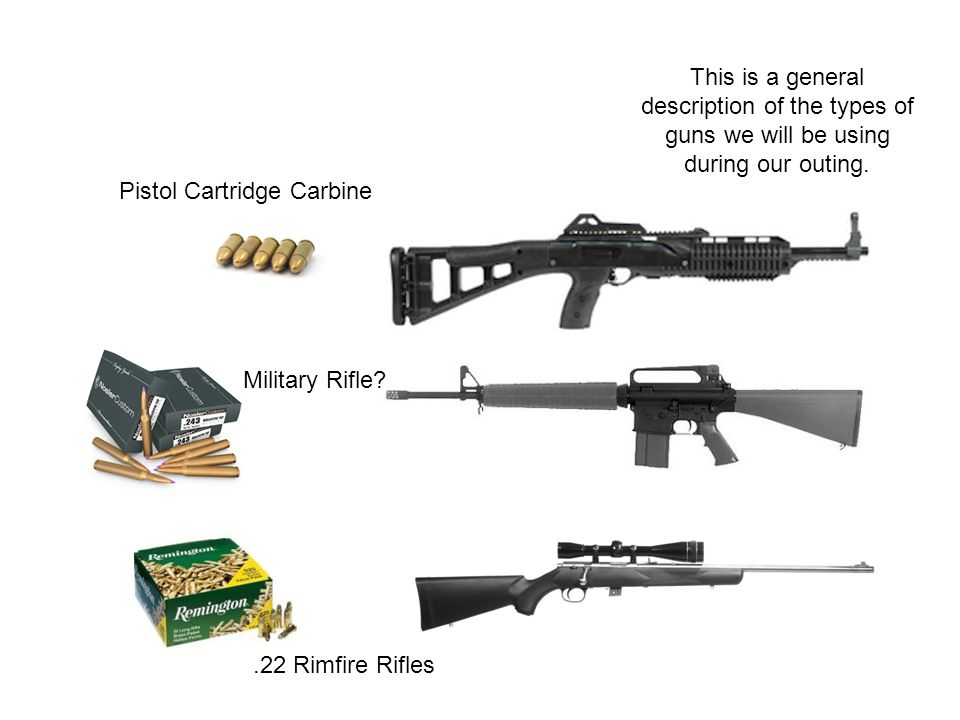 Pistol Cartridge Carbine Military Rifle?.22 Rimfire Rifles