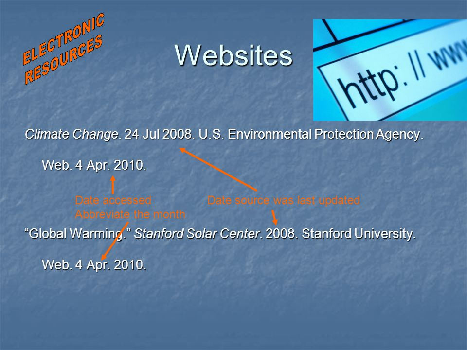 Websites Climate Change. 24 Jul 2008. U.S. Environmental Protection Agency.