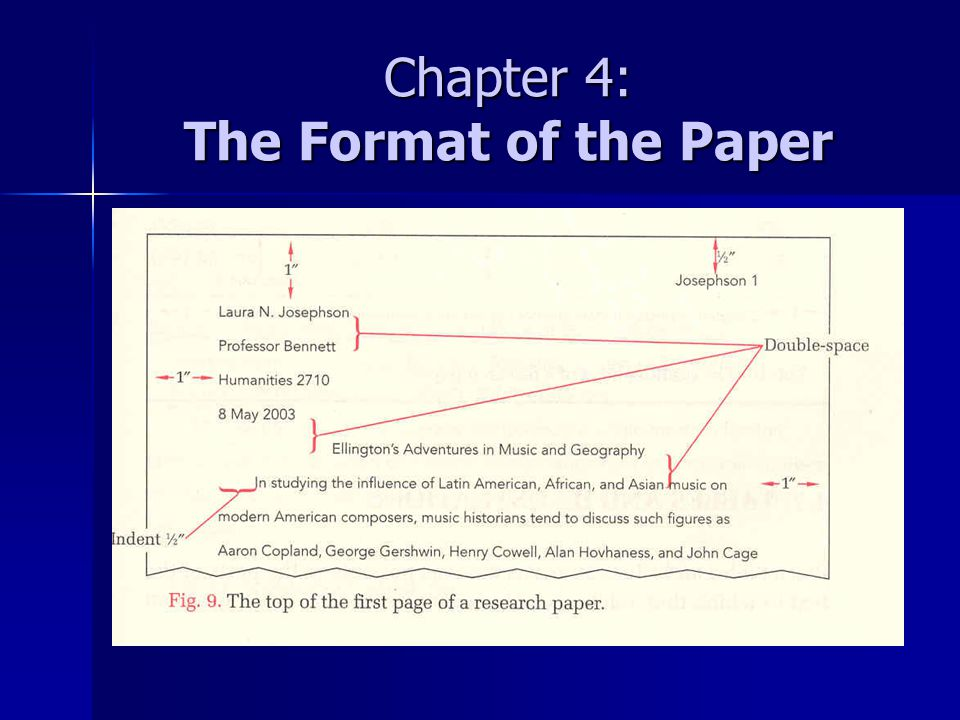 Chapter 4: The Format of the Paper
