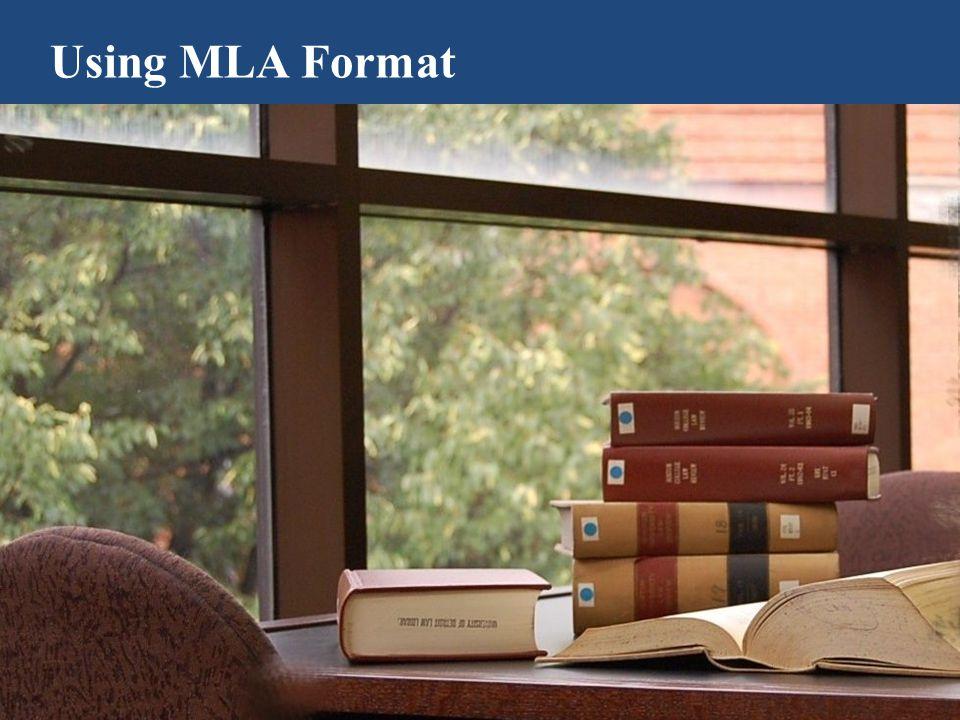 Using MLA Format