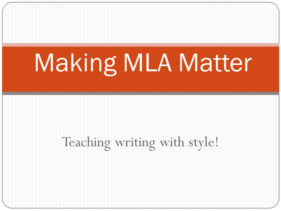 How to use MLA!