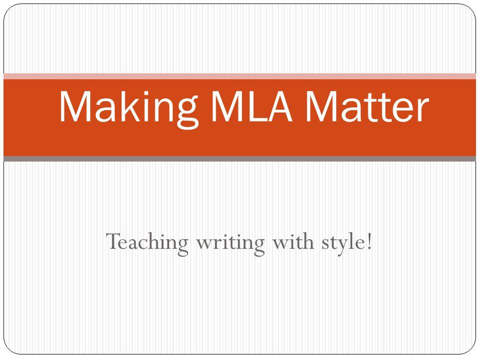 Research Using MLA