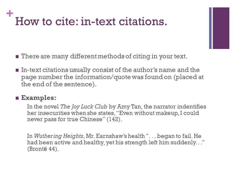 + How to cite: in-text citations. There are many different methods of citing in your text.