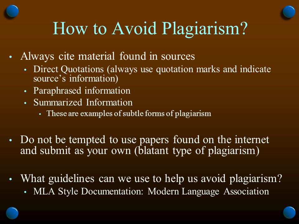 How to Avoid Plagiarism.