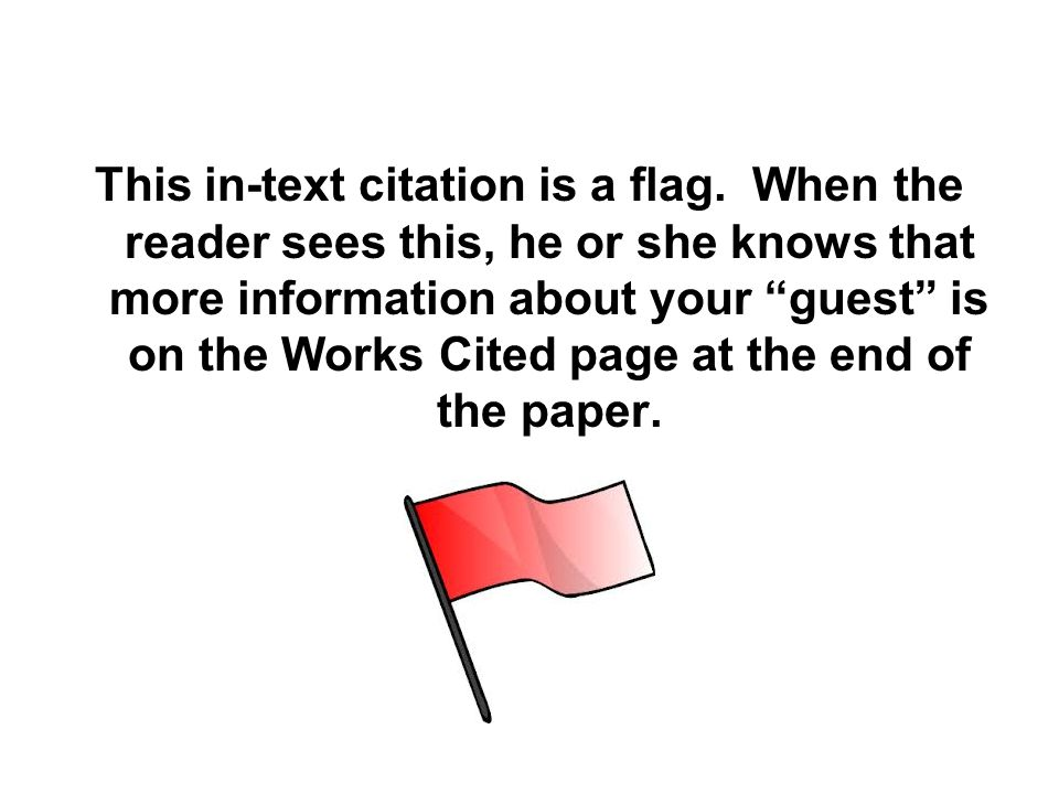 This in-text citation is a flag.