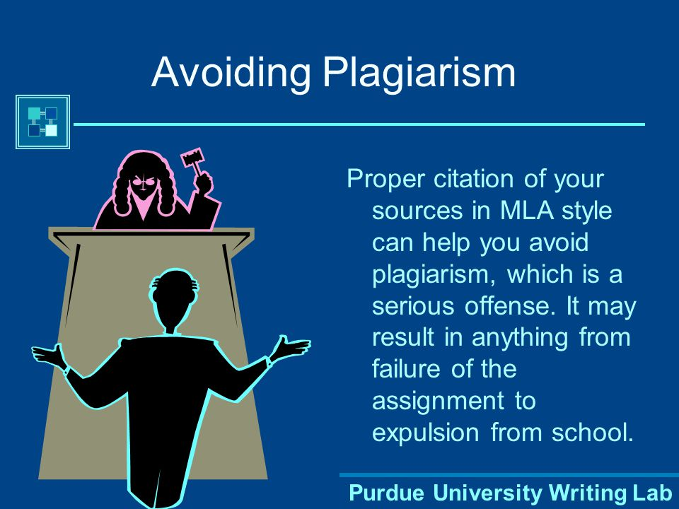 Purdue University Writing Lab Establishing Credibility The proper use of MLA style shows the credibility of writers; such writers show accountability to their source material.
