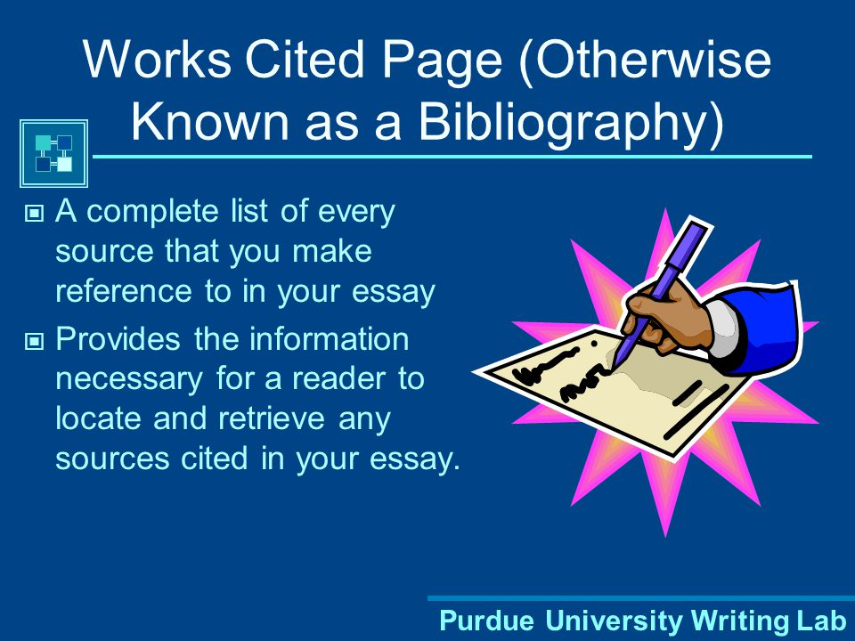 Purdue University Writing Lab MLA Style: Two Parts Works Cited Page Parenthetical Citations, Footnotes and Endnotes.