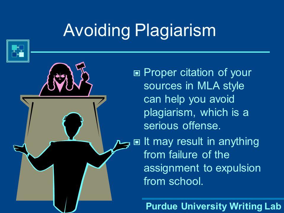 Purdue University Writing Lab Establishing Credibility The proper use of MLA style shows the credibility of writers; such writers show accountability