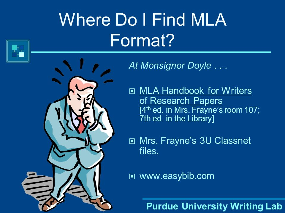 Purdue University Writing Lab Avoiding Plagiarism Proper citation of your sources in MLA style can help you avoid plagiarism, which is a serious offen