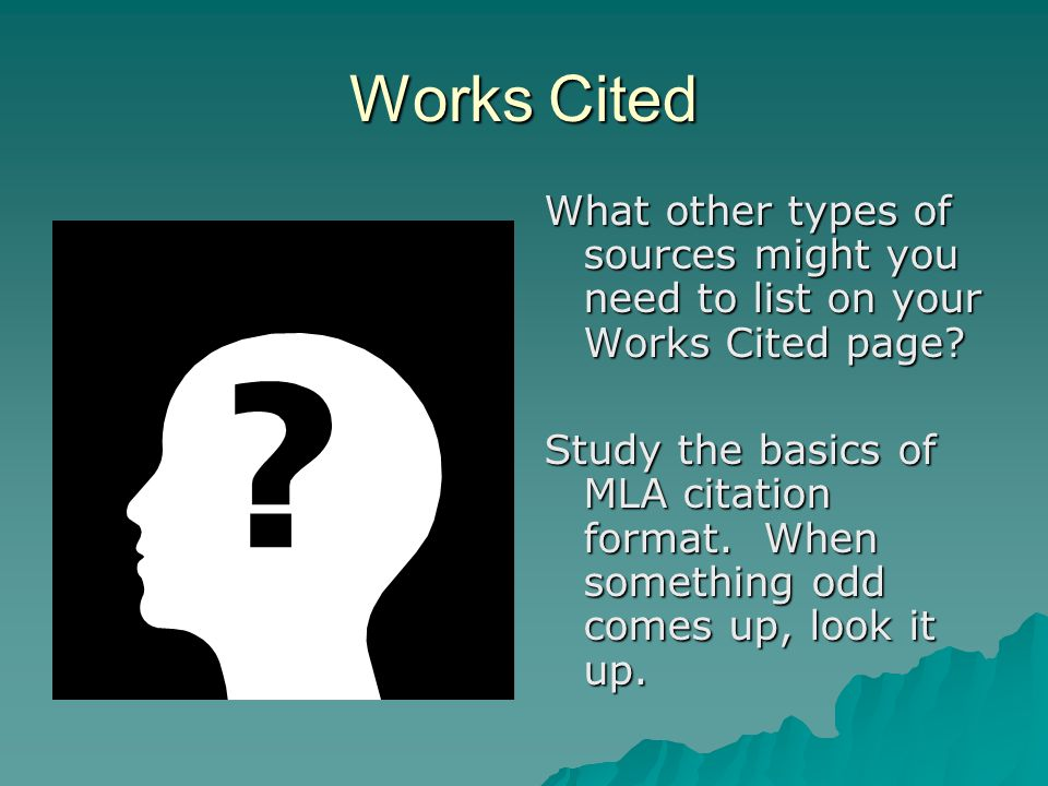 Works Cited List  Elibrary  George, Patricia.