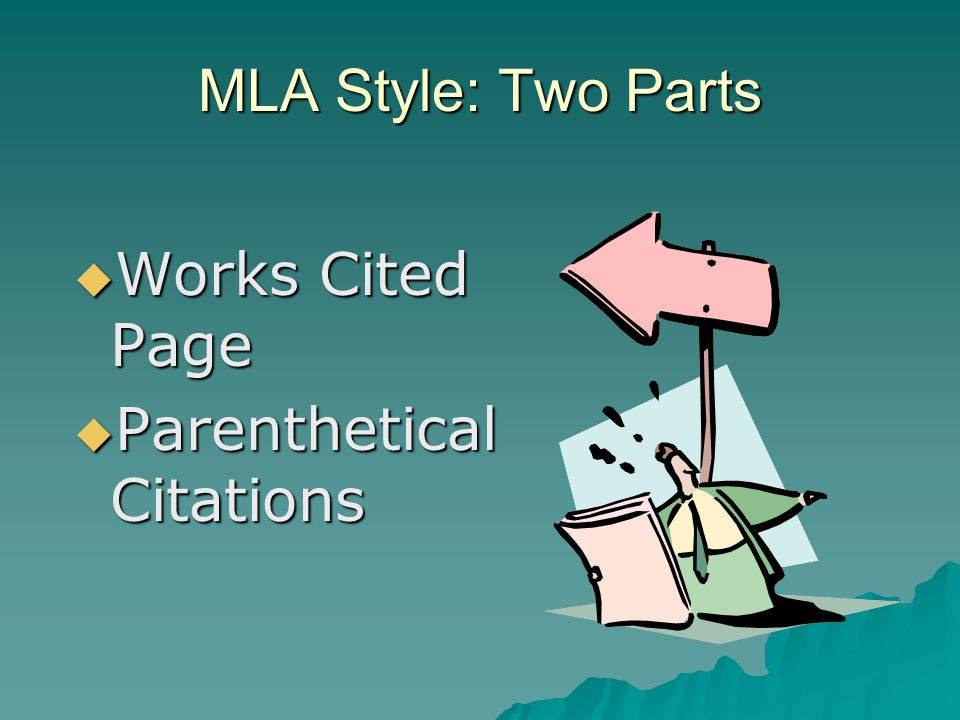 why is mla format used