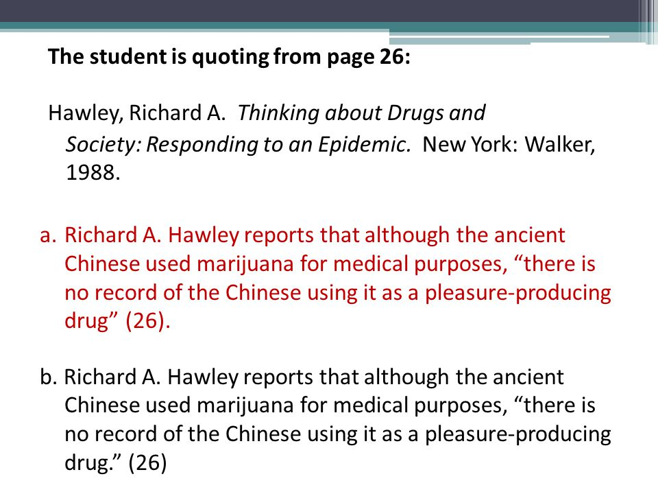 The student is summarizing from page 63: Henningfield, Jack E., and Nancy Almand Ator.