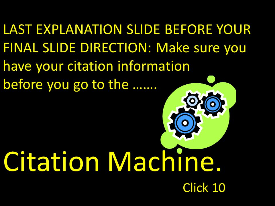 The new page that appears will have the proper citation format for you to copy and paste onto a word document.