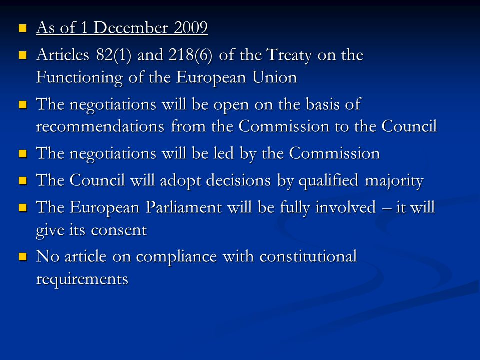 Existing Agreements EU – USA Mutual Legal Assistance and Extradition Agreements of 2003 EU – USA Mutual Legal Assistance and Extradition Agreements of 2003 EU – Iceland and Norway mutual legal assistance Agreement of 2003 EU – Iceland and Norway mutual legal assistance Agreement of 2003 EU – Iceland and Norway Agreement on the surrender procedure of 2006 EU – Iceland and Norway Agreement on the surrender procedure of 2006 EU – Japan Mutual Legal Assistance Agreement of 2009 EU – Japan Mutual Legal Assistance Agreement of 2009 No experience with practical implementation of the Agreements so far No experience with practical implementation of the Agreements so far