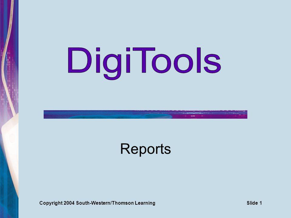Copyright 2004 South-Western/Thomson LearningSlide 2 MLA Report Formatting Guides 1 top margin Margins 1 side margins