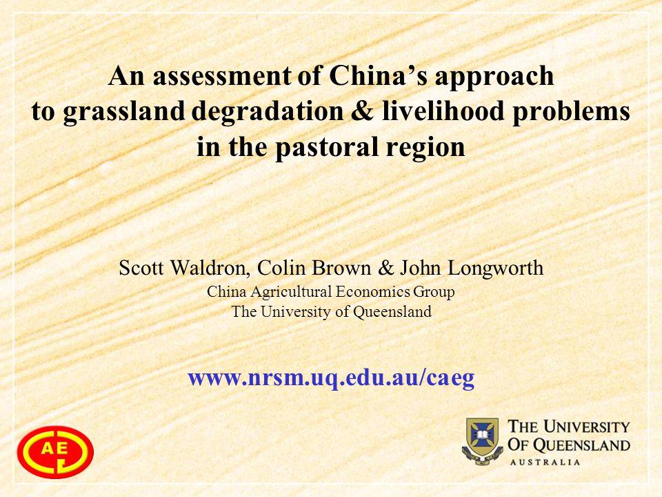 Presentation 1.The problem 1 (a).Grassland degradation 1 (b).