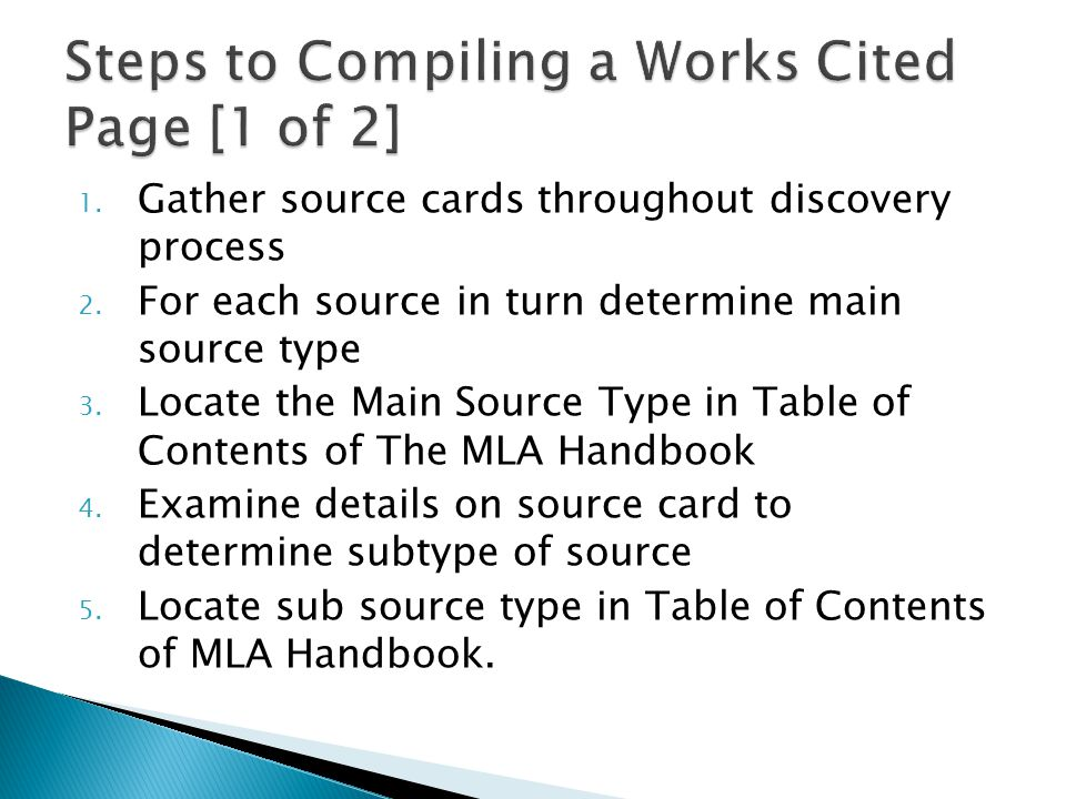 1. Gather source cards throughout discovery process 2.