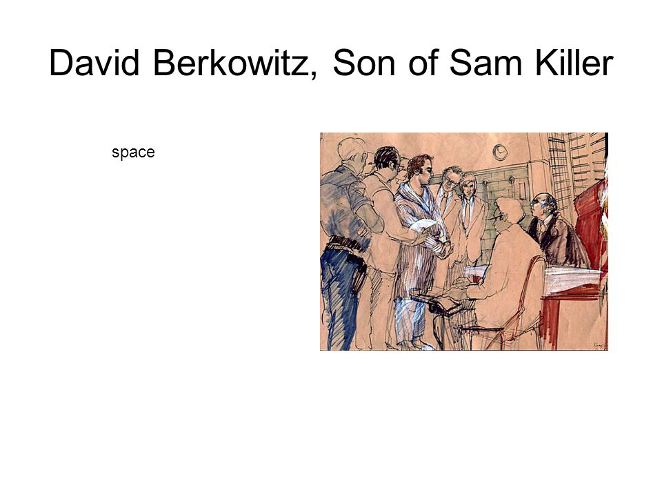 David Berkowitz, Son of Sam Killer space