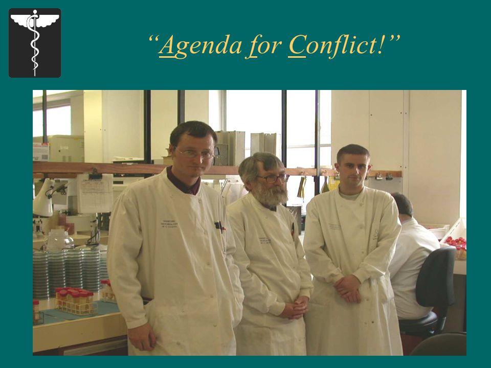 29 Agenda for Conflict!
