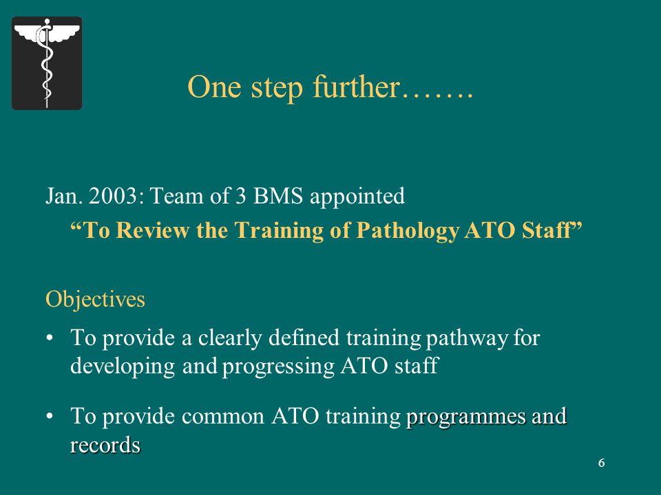 7 Outcomes: Pathways for Progression of ATO Staff I.