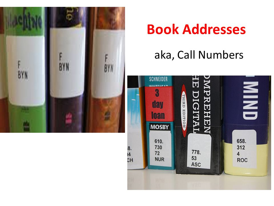 Book Addresses aka, Call Numbers