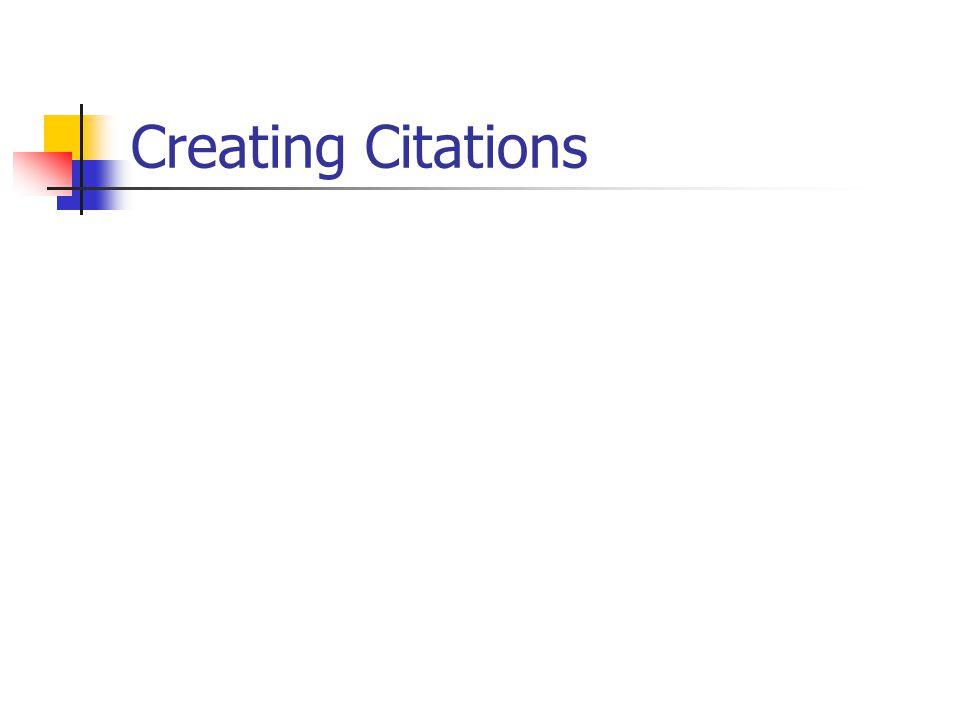 Creating Citations