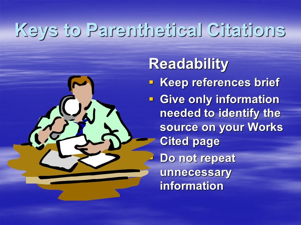 When Should You Use Parenthetical Citations.