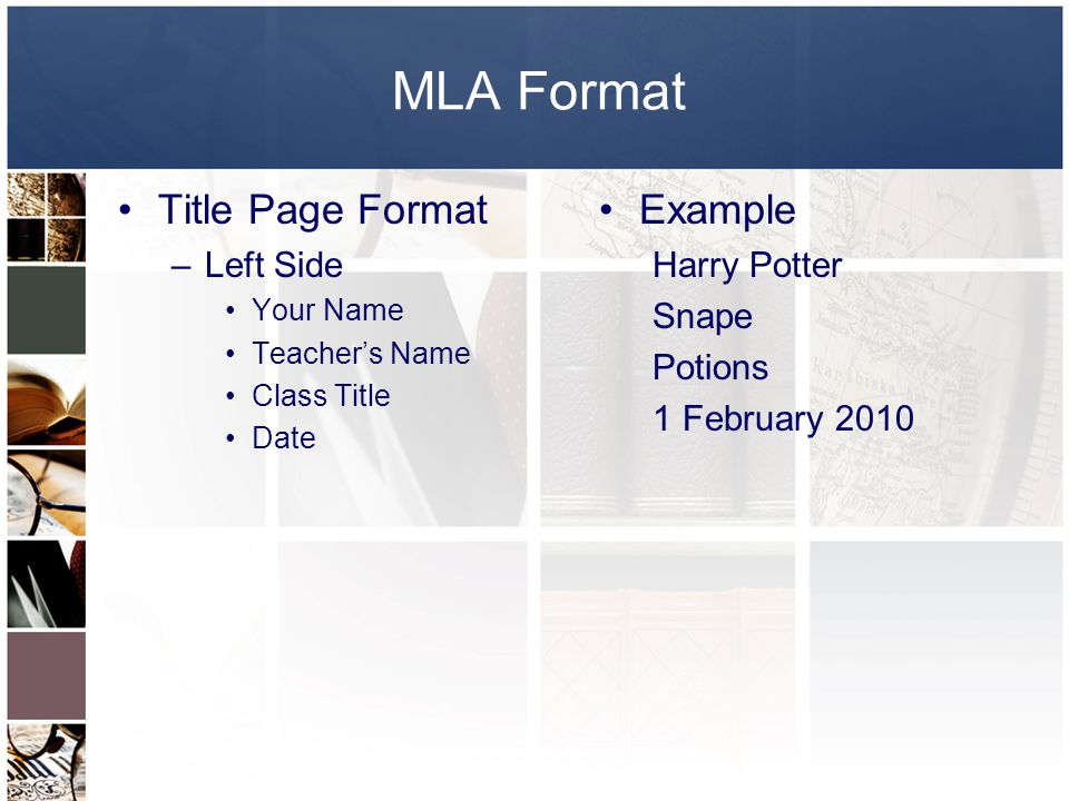 mla formatting titles How can the answer be improved.