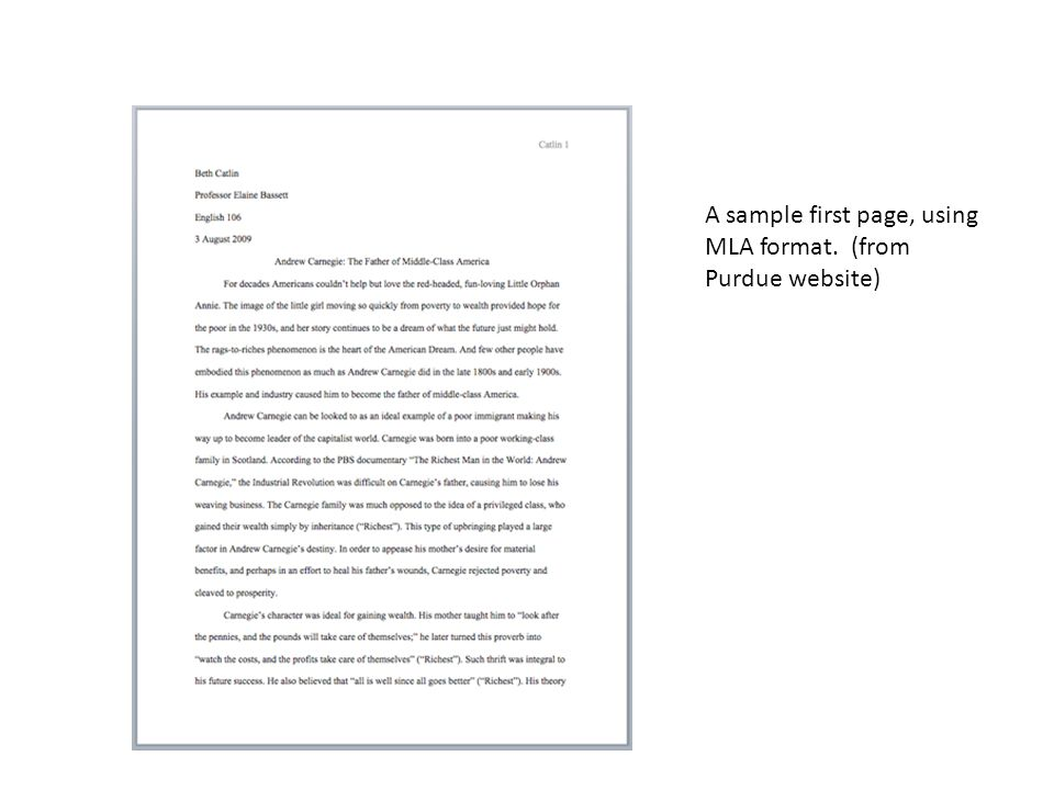 Citations within Text MLA format follows the author-page method of in-text citation.