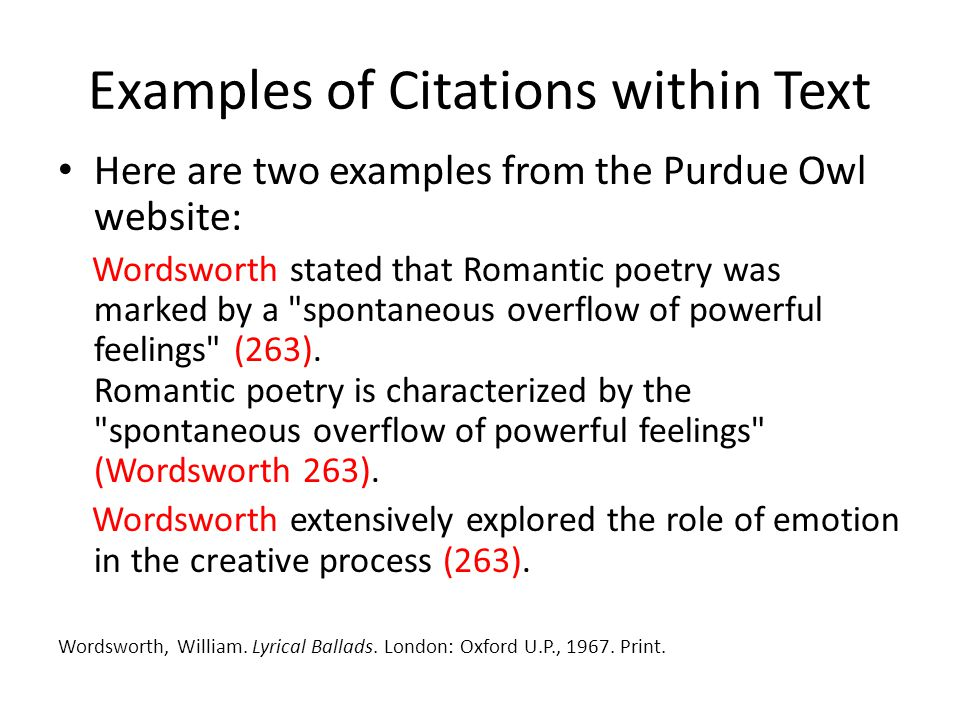 Citations within Text with Known Author For Print sources like books, magazines, scholarly journal articles, and newspapers, provide a signal word or phrase (usually the author's last name) and a page number.