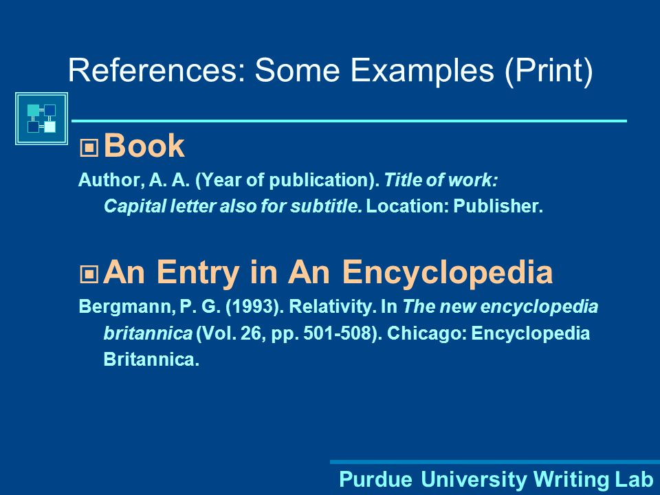 References Page – Last Page of your Report APA Header and page # Center the title–References-- at the top of the page, NO underline or bold Double-space reference entries Flush left the first line of the entry and indent all the following lines Order entries alphabetically by the author's surnames or article title if no author