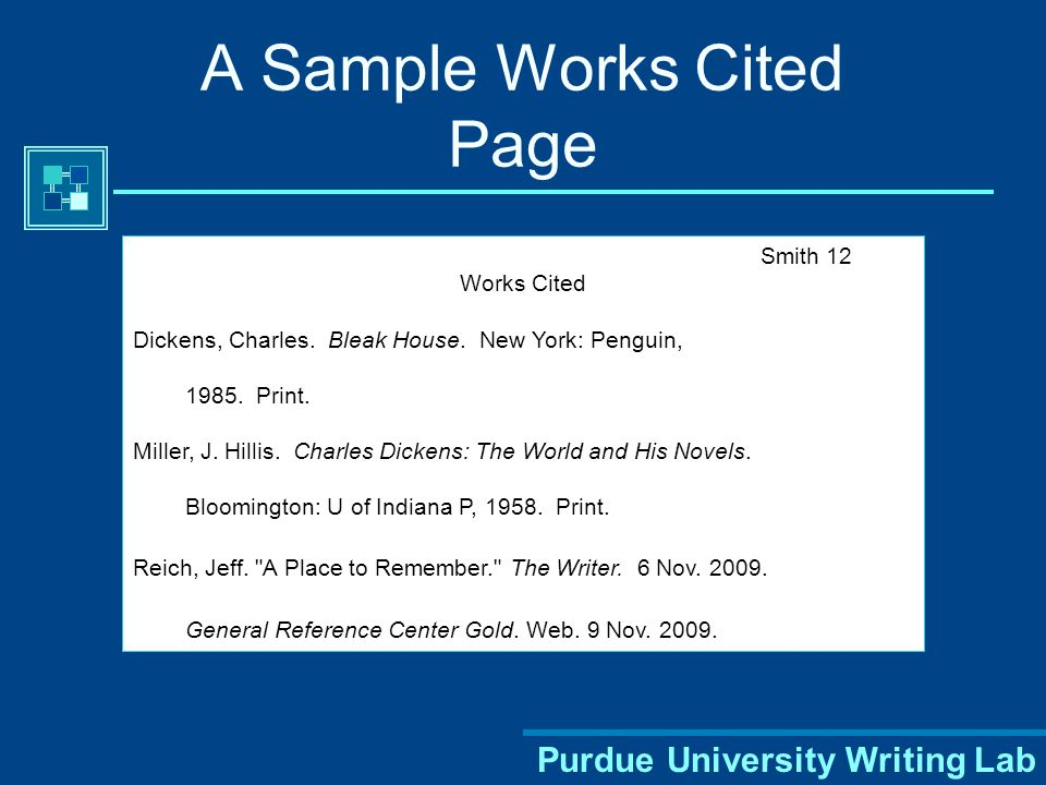 Purdue University Writing Lab MLA Style: Two Parts 1.