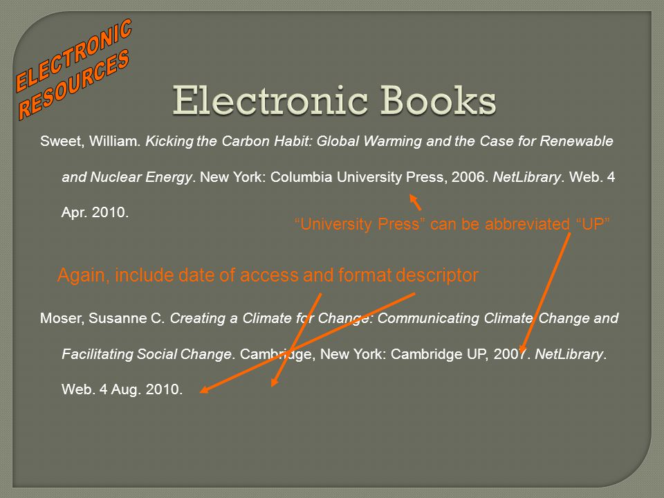 Sweet, William. Kicking the Carbon Habit: Global Warming and the Case for Renewable and Nuclear Energy. New York: Columbia University Press, 2006. Net