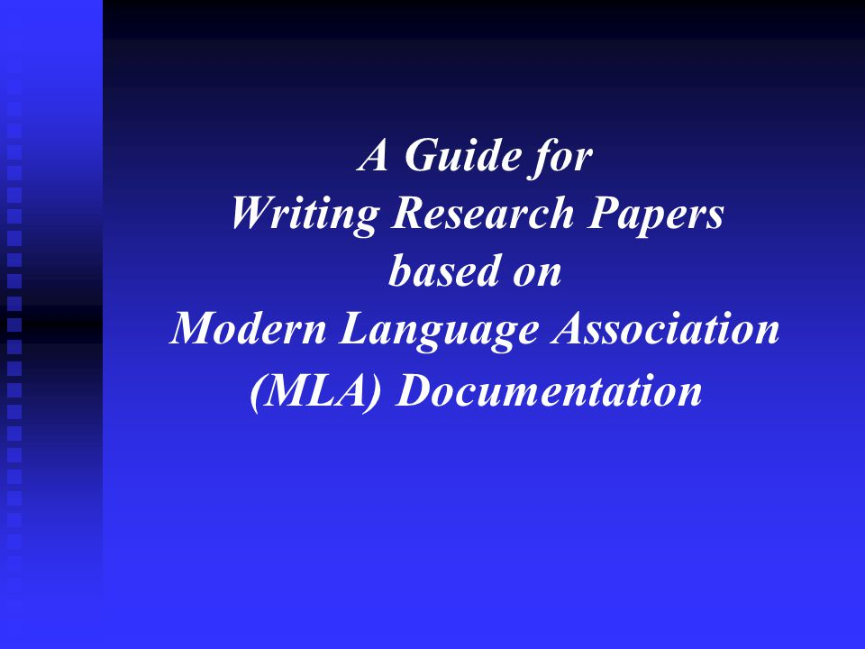 Research Paper A Brief Introduction