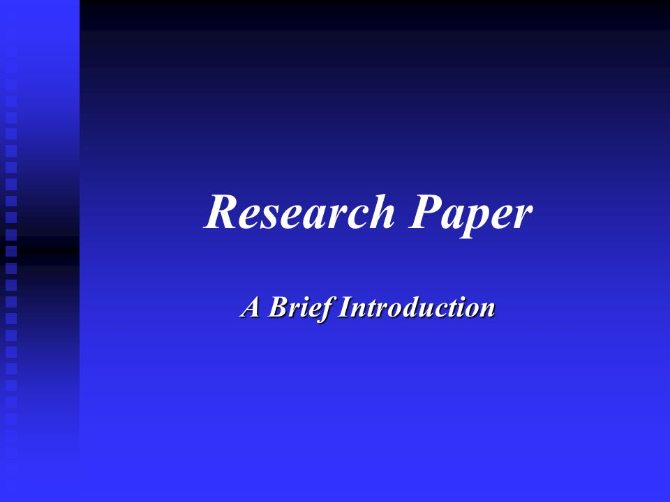 A research paper presents the results of your investigations on a selected topic.