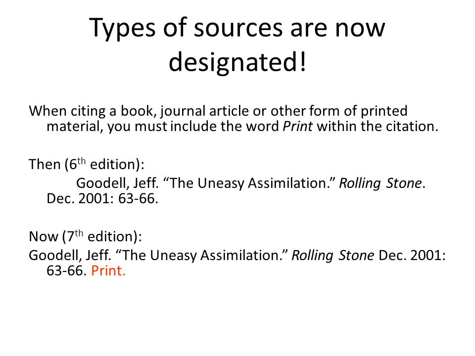 Types of sources are now designated.