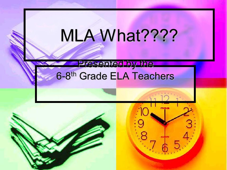 MLA Style: Two Parts Part #1- Works Cited Page- last page of the paper sometimes referred to as a bibliography.
