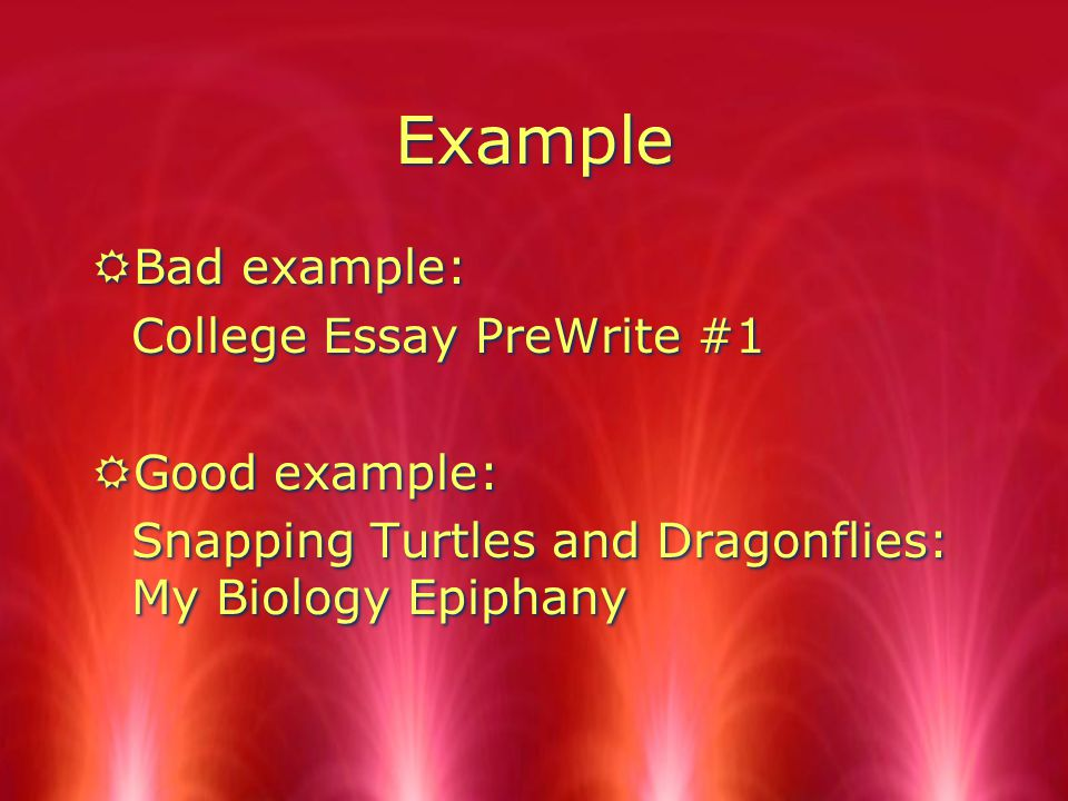 Title RCreate a title. RFollow the directions your teacher gives concerning the title.