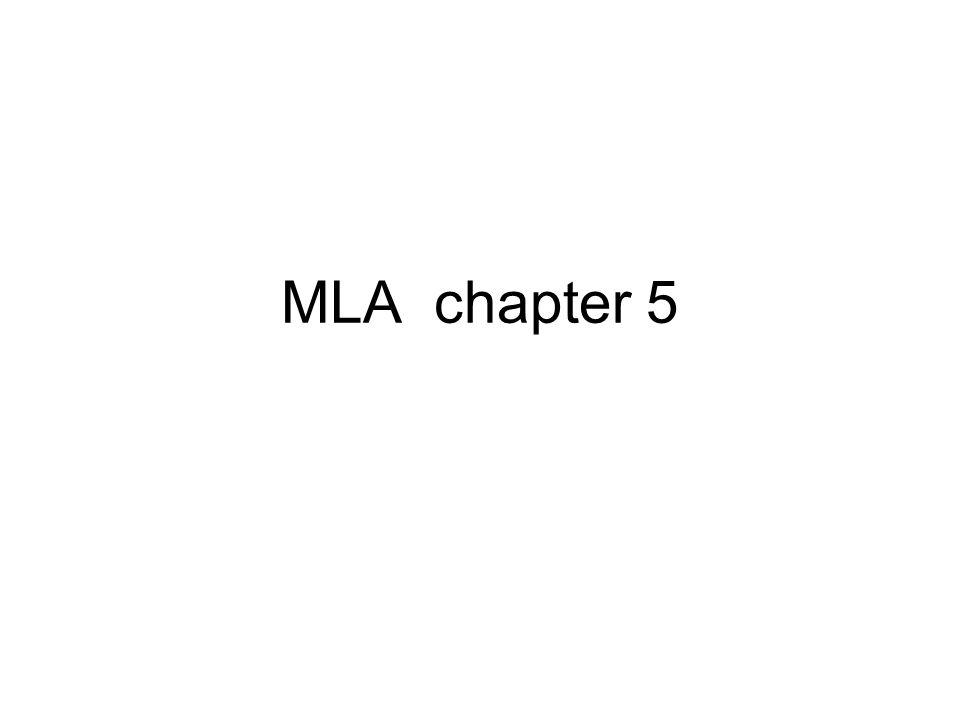 MLA chapter 5
