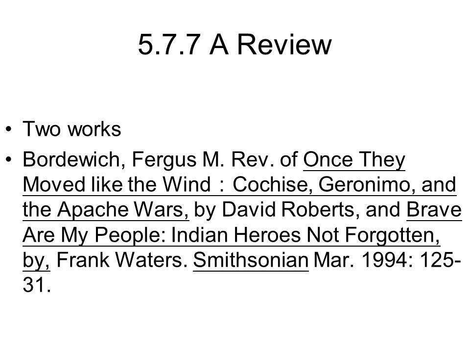 5.7.7 A Review Two works Bordewich, Fergus M. Rev.