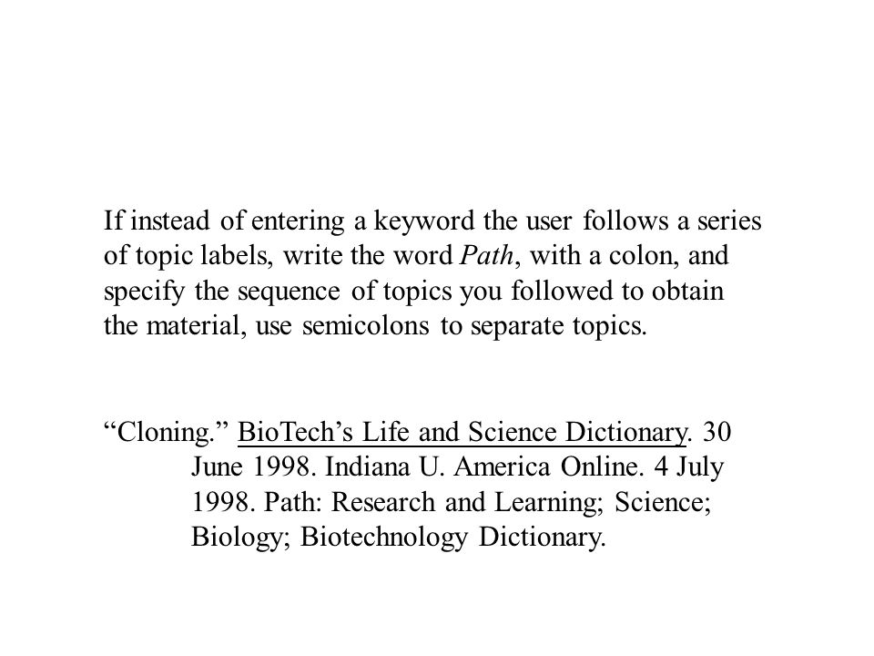 Cloning. BioTech's Life and Science Dictionary. 30 June 1998.