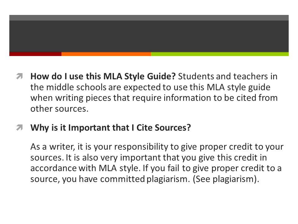  How do I use this MLA Style Guide.