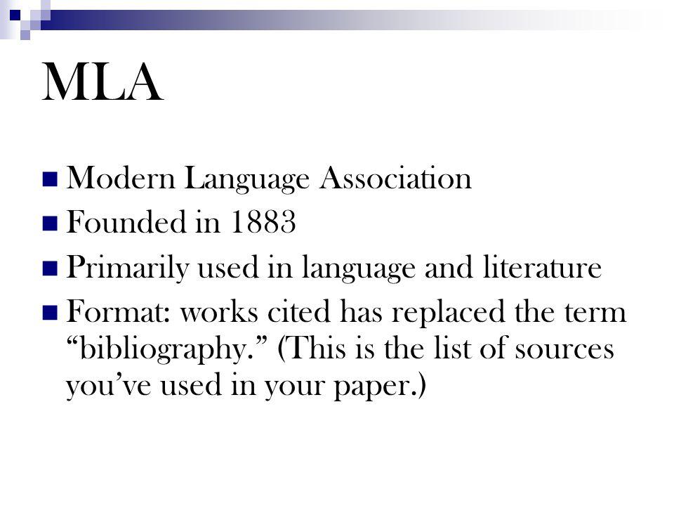 Works Cited MLA Format Joanne Edmonds & Diana Fannin