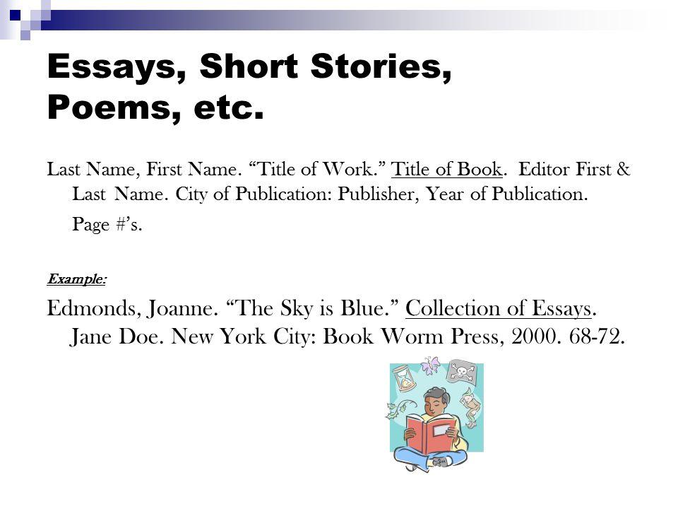 Boo ks: T wo or Three Authors (same book) Last Name, First Name (1 st author), First & Last Name (2 nd author), and First & Last Name (3 rd author).