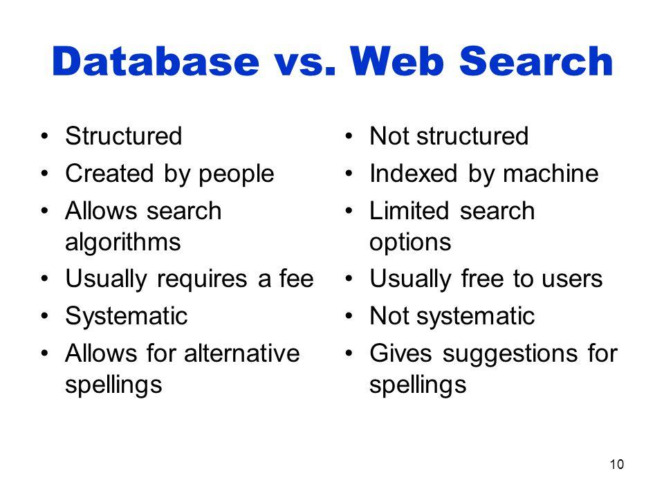 10 Database vs.