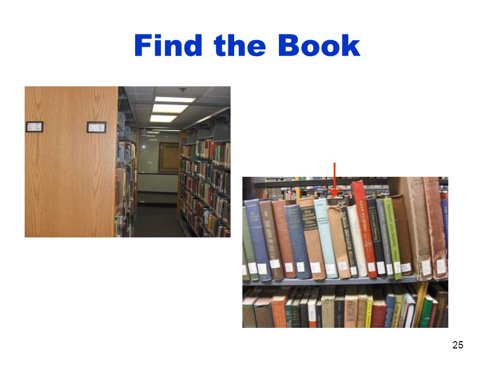 25 Find the Book ↓