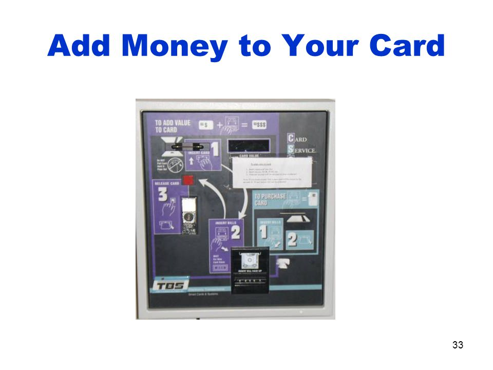 33 Add Money to Your Card